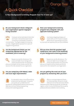 Background checklist